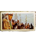Indians of Canada Tea Card #24 Near Mint War Party Red Rose 1974 - $1.89
