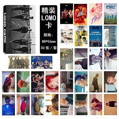 Kpop Bigbang 30pcs Set LOMO Card Photocard Postcard GD G-dragon T.O.P Daesung for sale  USA
