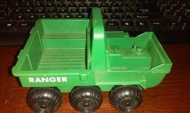Vintage 1976 Fisher-Price Toys #K7 Green RANGER 6-Wheel ATV Estate find - $12.19