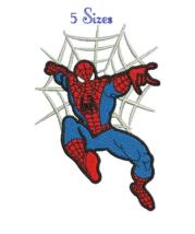 Spiderman 9 Spider man digitized embroidery design 5 sizes Digital Download - $4.50