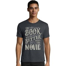Hanes Men's Grey The Book Was Better Than The Movie Graphic T-Shirt - S-3XL - $15.19