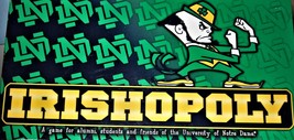 Irishopoly Monopoly - Notre Dame College Real EstateTrading Board Game  - $29.95