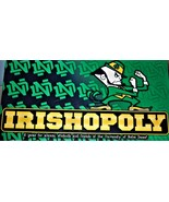Irishopoly Monopoly - Notre Dame College Real EstateTrading Board Game  - $18.95