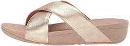 Fitflop Lulu Criss Cross Slide Rose Gold Women's Sandal K04-323 - $81.95