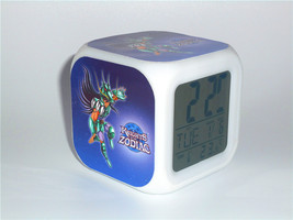 New Led Alarm Clock Saint Seiya Shiryu Creative Desk Clock Digital Alarm... - $19.99