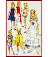 "Vintage Doll Clothing Pattern for 9 1/2"" Skipper ~ No.5 - $7.99"