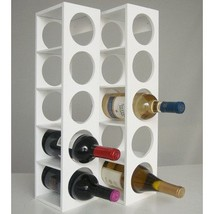 Proman Products Rutherford Wine Rack in White - $84.29