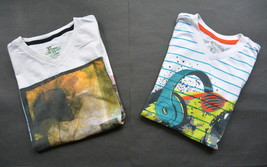 Boys Epic Threads T-Shirts M Short Sleeves Cotton Graphic Tee V-Neck White - $9.95