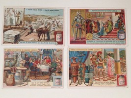 Liebig Victorian Trade Cards Set of 4 Antique Vintage Ads - $43.23