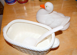 vintage Duck Tureen Ladle set Serving Bowl with... - $24.74
