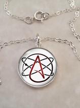 Sterling Silver Pendant Atheist Molecule Atom Skeptic - $30.20+