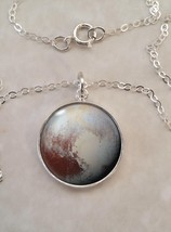Sterling Silver Pendant Pluto Dwarf Planet Astronomy Science Physics - $30.00+