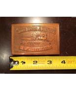 Vintage 1970s Wells Fargo & Company Express Est 1852 Train Brass Belt Bu... - $34.64