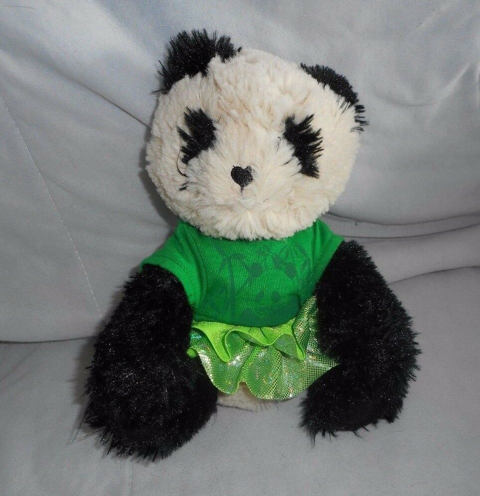 Primary image for LITTLE BROWNIE BAKERS GIRL SCOUTS PANDA BEAR STUFFED ANIMAL PLUSH TOY HEART NOSE