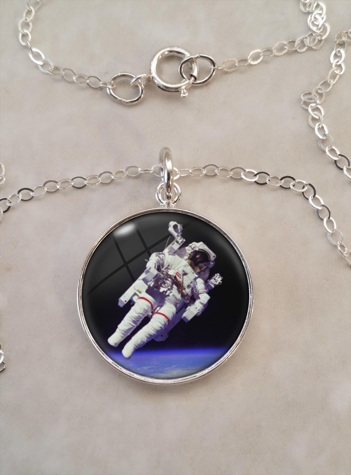 Primary image for Sterling Silver Pendant Astronaut Space Science Astronomy Astrophysics