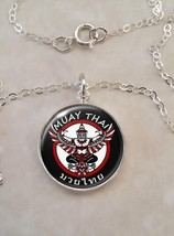 Sterling Silver Pendant Muay Thai Martial Arts MMA Thai boxing - $30.20+