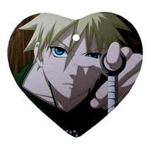 Heart Ornaments - Naruto Uzumaki Anime Procelain Ornaments Christmas  - $4.49