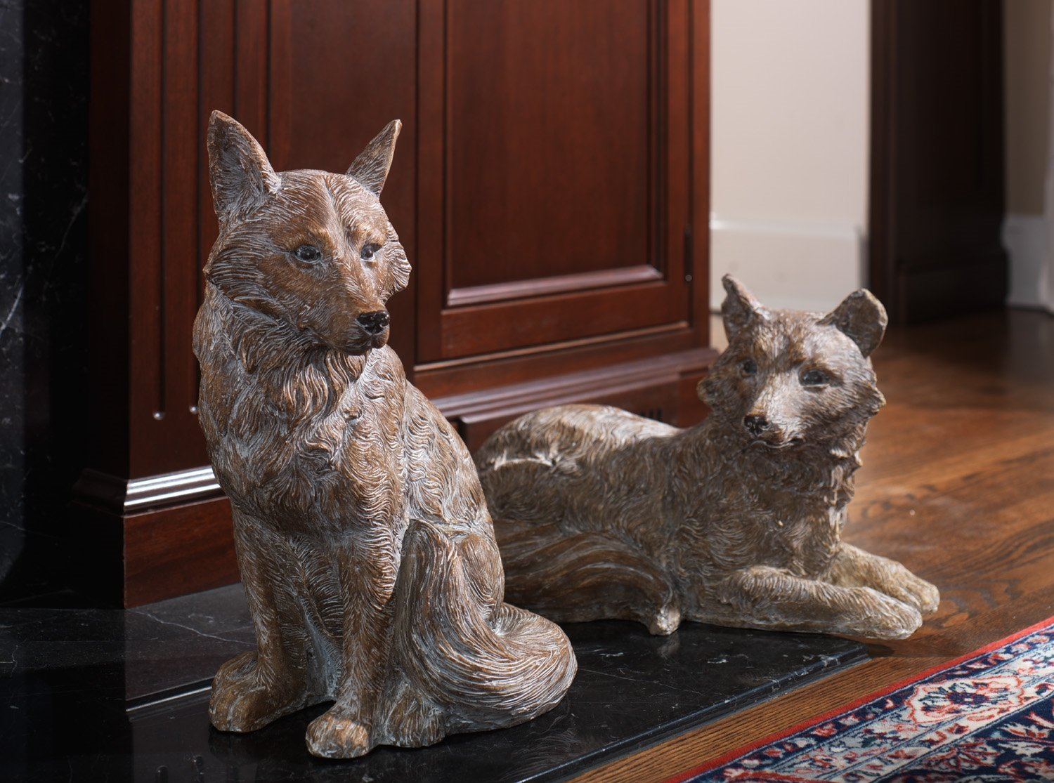 Set of Two Woodland Foxes Pair