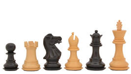 "The Staunton Weighted Wooden Chess Pieces In Ebony/Box Wood-3.0"" King-SKU: M0010 - $113.99"