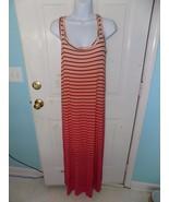 APT.9 PINK/ORANGE STRIPED MAXI DRESS SIZE XS WOMEN'S NWOT - $25.11