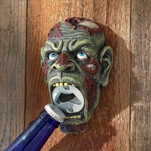 Pop a Top Zombie Head Apocalypse Wall Mounted Human Zombie Walker Bottle... - £39.22 GBP