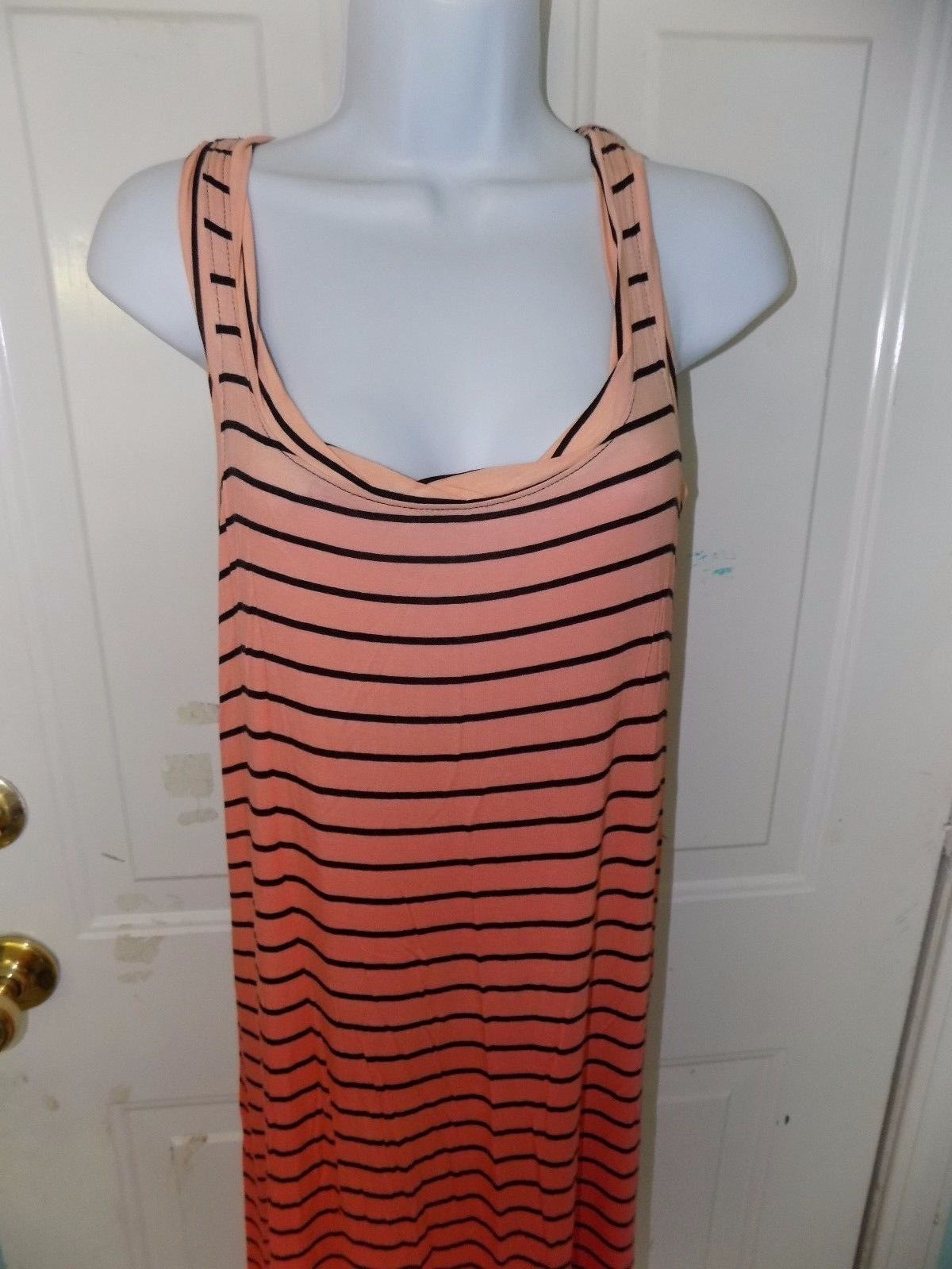 APT.9 PINK/ORANGE STRIPED MAXI DRESS SIZE XS WOMEN'S NWOT