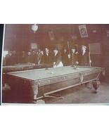 Billard Pool Hall Saloon Sepia Card Stock Photo... - $20.20
