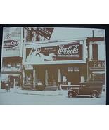 Coca Cola Barber Pole, Model T,Sepia Card Stock Photo 1940s - $20.20
