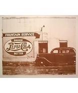 Fountain Service Pepsi Cola Vintage Sepia Card ... - $20.20