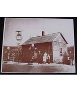 Gulf Oil Station Family Portrait Vintage Sepia ... - $20.20