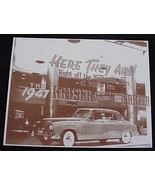 Kaiser Fraser Automobile Willow Run Launch Vintage Sepia Card Stock Phot... - $20.20