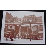 Mallory's Goodrich Tire Garage Vintage Sepia Card Stock Photo 1930s - $20.20