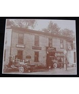 Overland Card's Garage & Milk Truck Vintage Sepia Card Stock  Photo 1930s - $20.20
