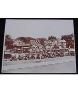 Used Car Lot Standard Auto Co. Automobiles Vintage Sepia Card Stock Phot... - $20.20