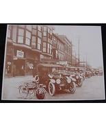 Used Car Lot Regal Sales Ohio Automobiles Vintage Sepia Card Stock Photo... - $20.20