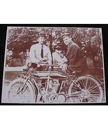 Two Men With Motorcycle Vintage Motor Bike Vint... - $20.20