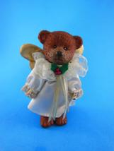 "Vintage Russ Resin 5"" Teddy Bear jointed Arms, legs, head Christmas angel - $8.41"