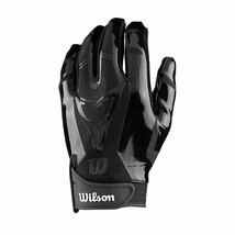 NEW Wilson Football The MVP Receiver Receivers gloves Youth Medium WTF9336BKM - $24.99