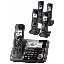Panasonic Link2Cell DECT 6.0 5-Handset Cordless Answering & Bluetooth KX... - $176.99