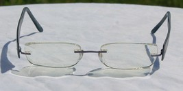 Silhouette Rimless Titan Edge Glasses Eyeglasses Frame Blue 17 40 Model ... - $28.21