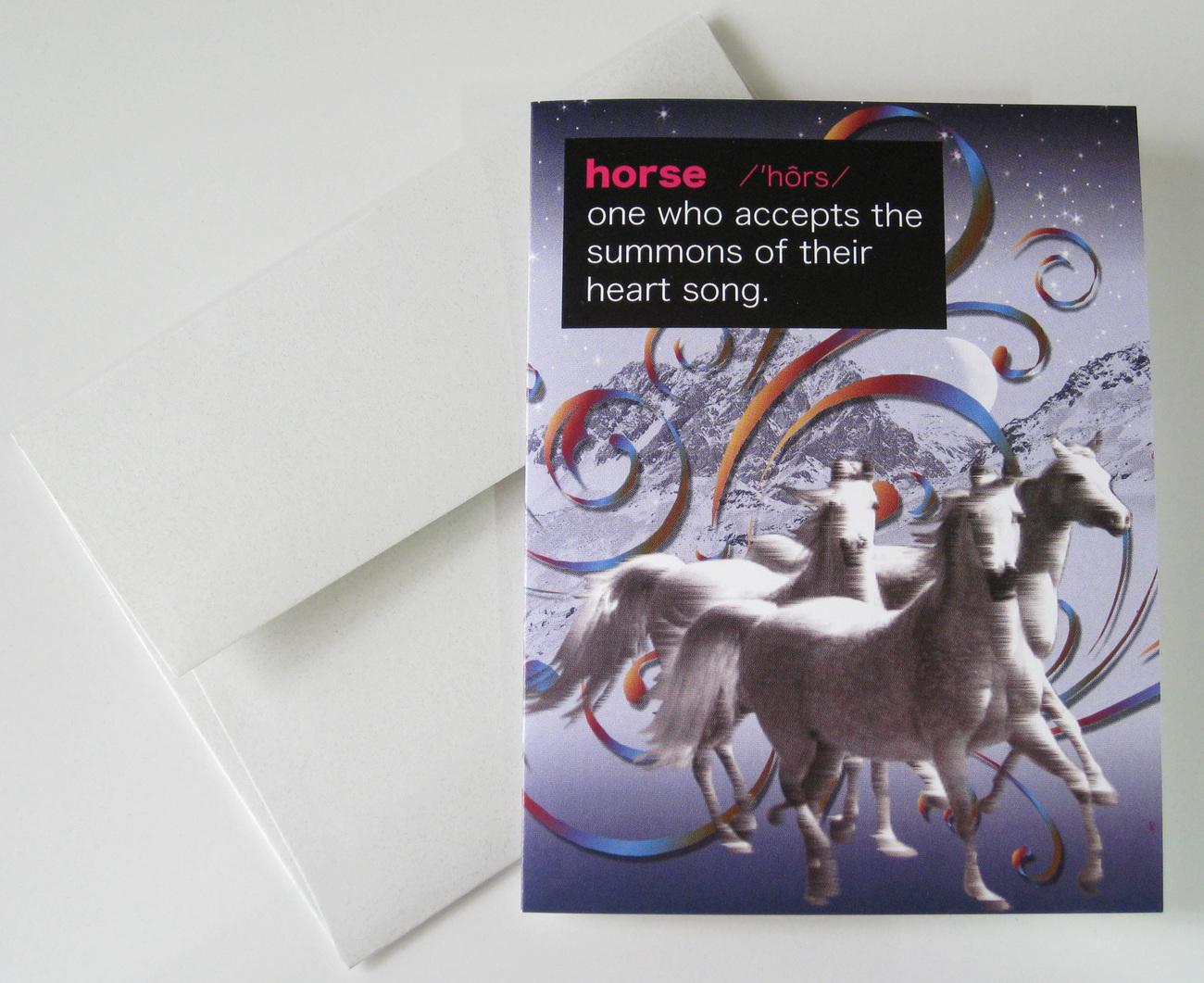 HORSE: Unique Blank Animal Philosophy Card