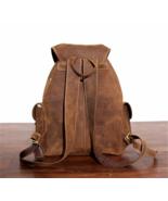 Handmade senior leather Backpack shoulder bag first layer of leather Retro - $110.44