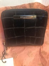 Brahmin Mini Suri Embossed Leather Wallet in Black Veil - $165.00