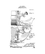 USA Patent 1910 W Ludwig Drums Bass Pedal Drawings - $15.52