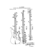 USA Patent Fender Stratocaster Guitar 1960's Drawings - $15.52