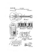 USA Patent Gibson Humbucker Pickup Tune-O-Matic Drawingss - $15.52