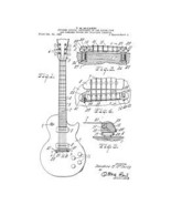 USA Patent Gibson Les Paul Electric Guitar 1950's Drawings - $15.52
