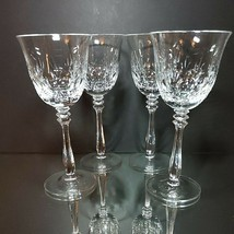 "4 (Four) MIKASA CAMEO Cut Lead Crystal Water Glasses 8.25"" T DISCONTINUED - $71.24"