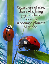 LADYBUG: Unique Blank Insect Philosophy Card - $5.00