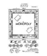 USA Patent C Darrow Monopoly 1930's Parker Bros Drawings - $23.30
